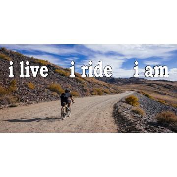 I Live I Ride I Am Photo License Plate