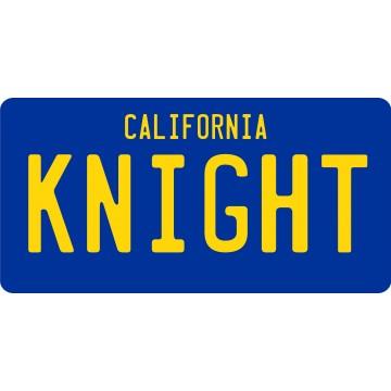 KNIGHT California Replica Photo License Plate