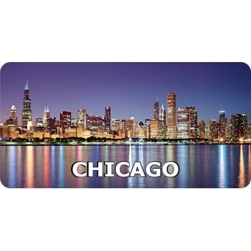 Chicago Skyline #2 Photo License Plate