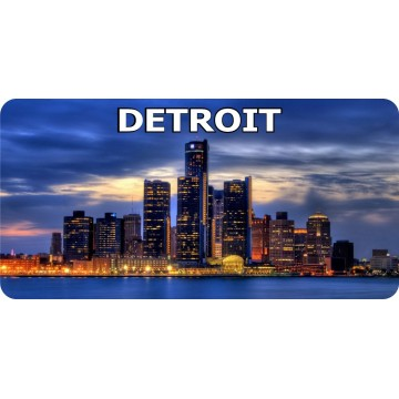 Detroit Skyline #2 Photo License Plate
