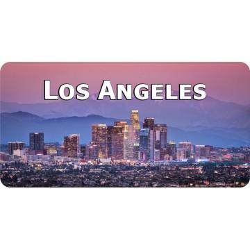 Los Angeles Skyline Photo License Plate