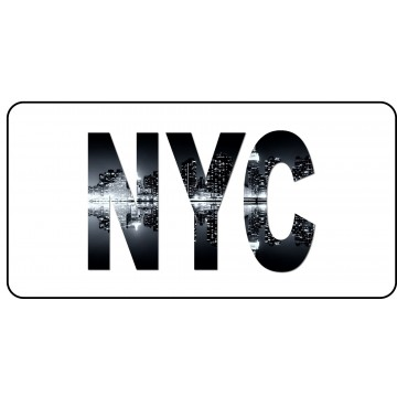 NYC Photo License Plate