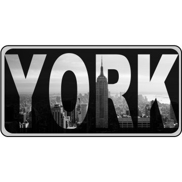 YORK Photo License Plate