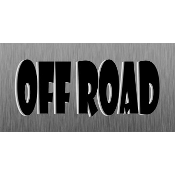 OFFROAD Photo License Plate