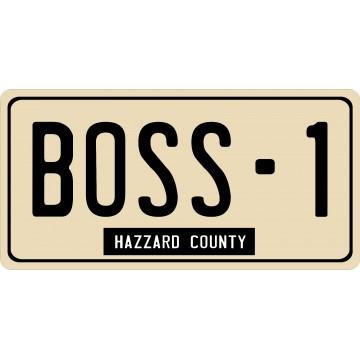 Boss-1 Hazzard County Photo License Plate