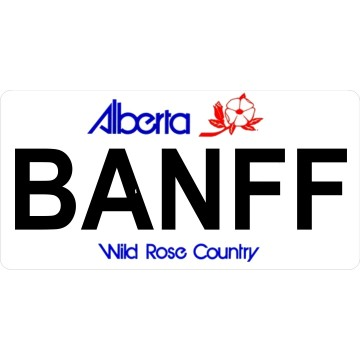 Alberta BANFF Photo License Plate