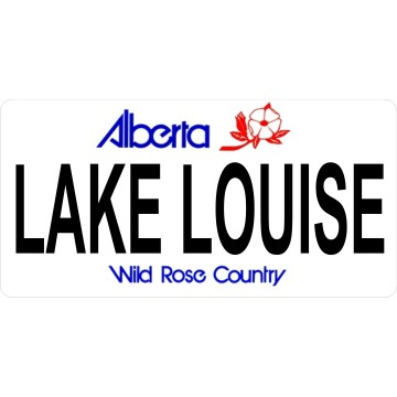 Alberta Lake Louise Photo License Plate