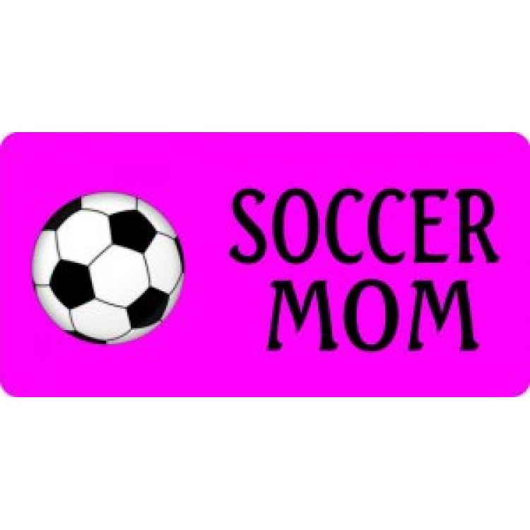 Soccer Mom On Purple Photo License Plate