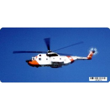 U.S. Coast Guard Helicopter Photo License Plate