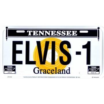 Elvis Presley #3 Metal License Plate