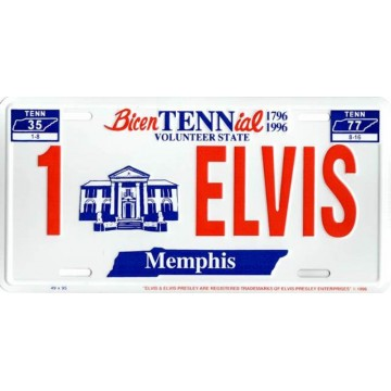 Elvis Presley #4 Metal License Plate