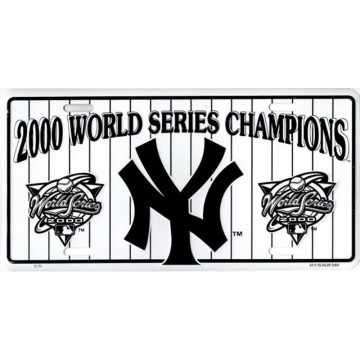 New York Yankees 2000 Champs Metal License Plate
