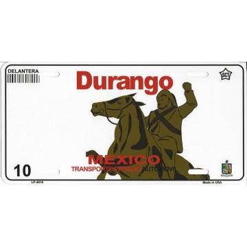 Durango Mexico Look A Like Metal License Plate