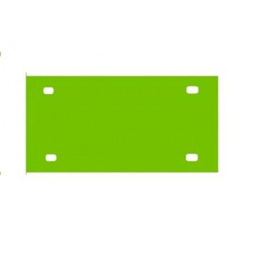 Light Green Acrylic Mirror License Plate