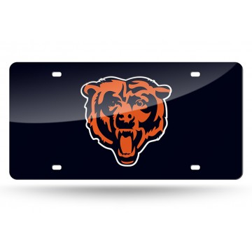 Chicago Bears Blue Laser License Plate