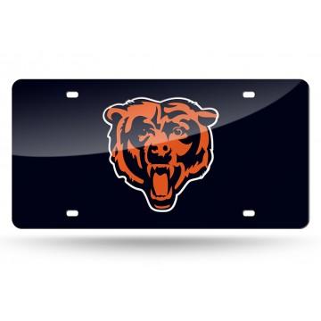 Chicago Bears Blue Laser License Plate