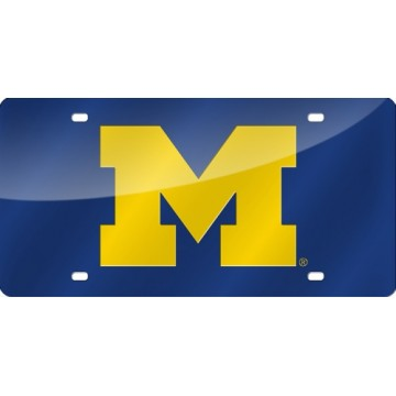 Michigan Wolverines Laser License Plate