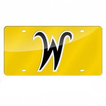 Wichita State Shockers Yellow Laser License Plate