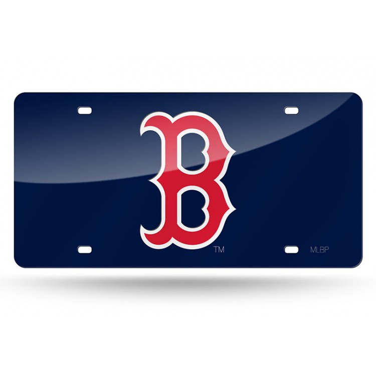 Boston Red Sox Blue Logo Laser License Plate
