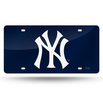 New York Yankees Blue Laser License Plate