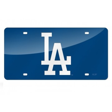 Los Angeles Dodgers Blue Laser License Plate