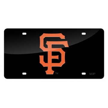San Francisco Giants Black Laser License Plate