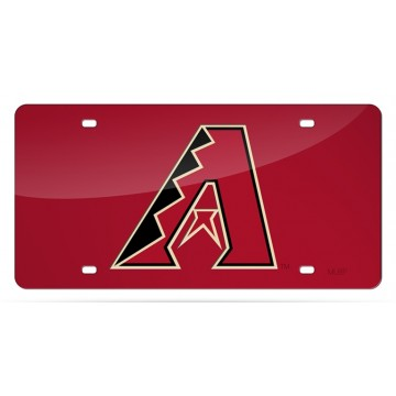Arizona Diamondbacks Red Laser License Plate