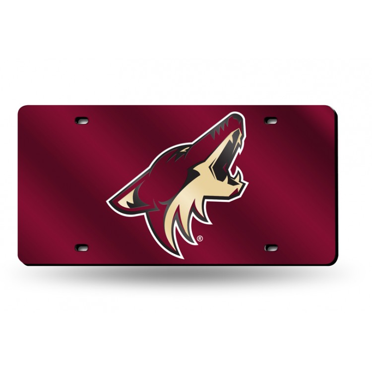 Phoenix Coyotes Red Laser License Plate