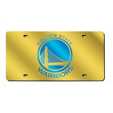 Golden State Warriors Logo Gold Laser License Plate