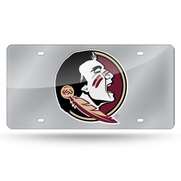 Florida State Seminoles Silver Laser License Plate