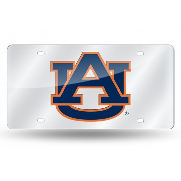 Auburn Tigers Silver Laser License Plate