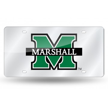 Marshall Thundering Herd Silver Laser License Plate