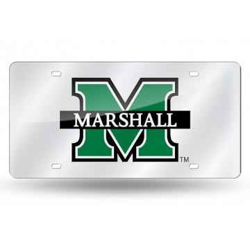 Marshall Thundering Herd Silver Laser License Plate