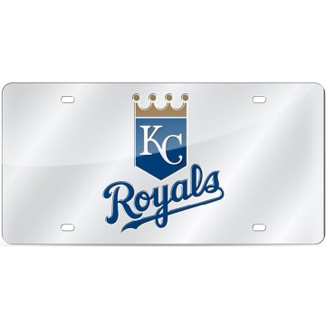 Kansas City Royals Silver Laser License Plate