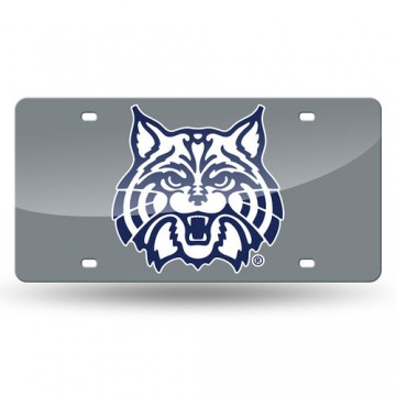 Arizona Wildcats Logo Silver Laser License Plate