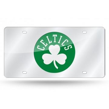 Boston Celtics Silver Laser License Plate