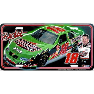Bobby Labonte #18 Metal License Plate