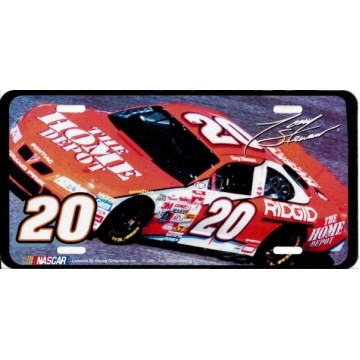 Tony Stewart #20 Metal License Plate