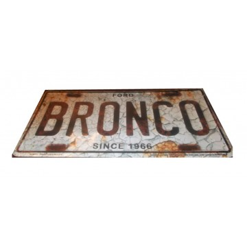 Ford Bronco Metal License Plate
