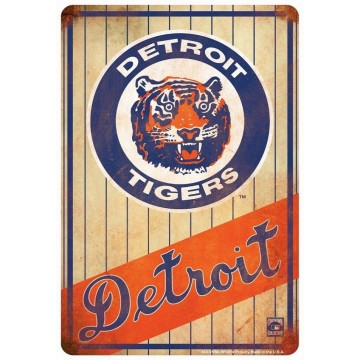 Detroit Tigers Retro Parking Sign