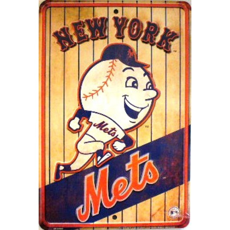 New York Mets Retro Parking Sign