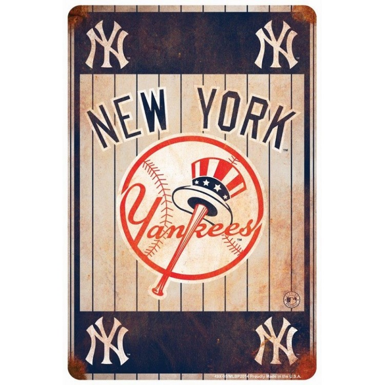New York Yankees Retro Parking Sign