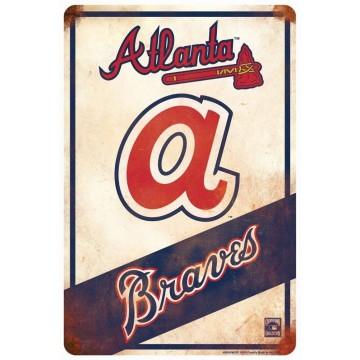 Atlanta Braves Retro Parking Sign