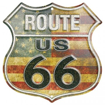 Route 66 Metal Parking Sign