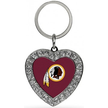 Washington Redskins Bling Rhinestone Heart Key Chain