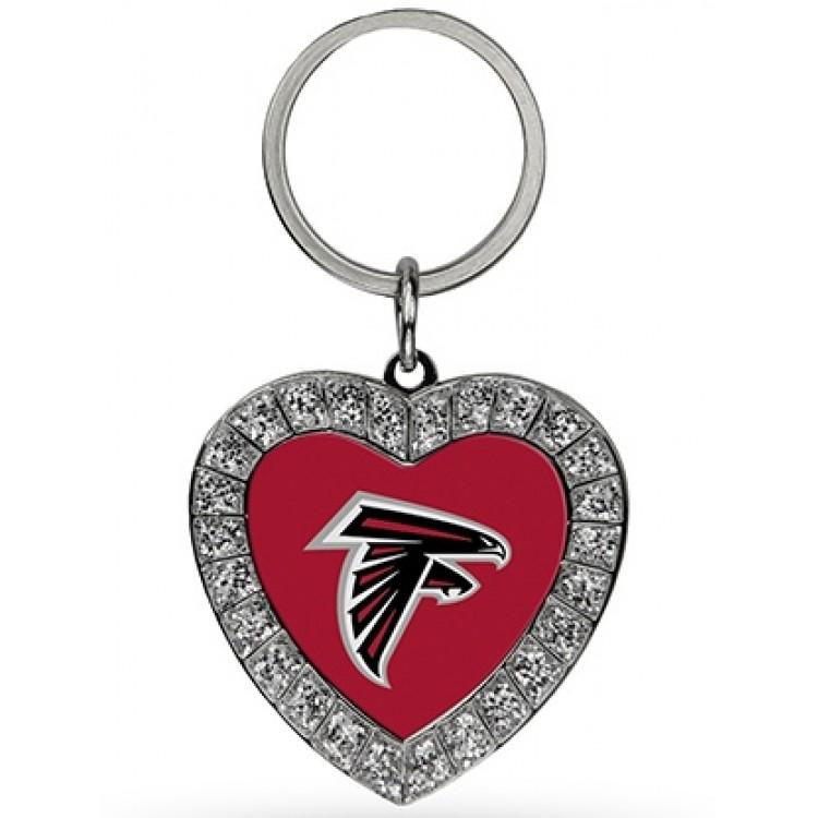 Atlanta Falcons Bling Rhinestone Heart Keychain