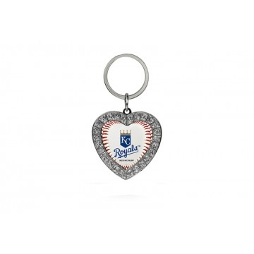 Kansas City Royals Bling Rhinestone Heart Key Chain