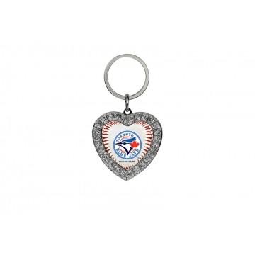 Toronto Blue Jays Bling Rhinestone Heart Key Chain