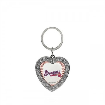Atlanta Braves Bling Rhinestone Heart Key Chain