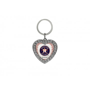 Houston Astros Bling Rhinestone Heart Key Chain